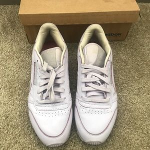 Reebok Classic Leather Spirit Lavender Women's 7.5